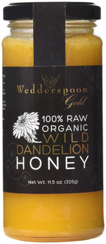 Wedderspoon Organics, 100% Raw Organic Wild Dandelion Honey 325g