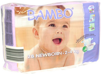 Abena International Bambo Premium Eco-Friendly Baby Diapers Newborn Size 1 Count: 28