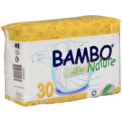 Abena International Bambo Nature Premium Eco-Friendly Baby Diapers Size 2 Count: 30
