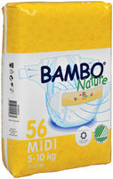 Abena International Bambo Nature Premium Eco-Friendly Baby Diapers Size 3 Count: 56