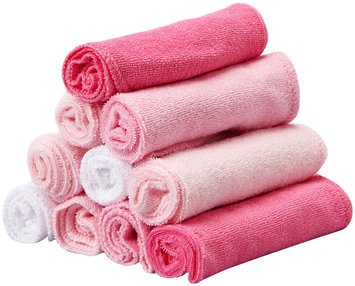Spasilk 10 pack Soft Terry Washcloth- Solid Pink - 1 ct.
