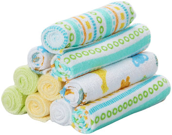Spasilk 10 pack Soft Terry Washcloth- Yellow Stripes - 1 ct.