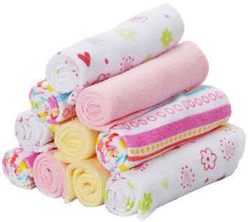 SpaSilk Soft Terry Washcloth Set - Pink Stripes - 10 ct
