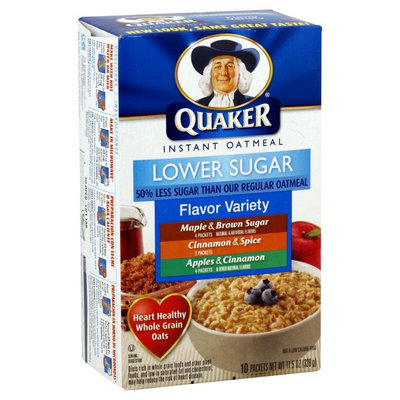 Quaker® Lower Sugar Instant Oatmeal Variety Pack