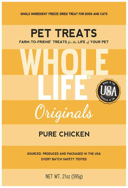 Whole Life Freeze Dried Treats For Dogs, Chicken, 21 oz