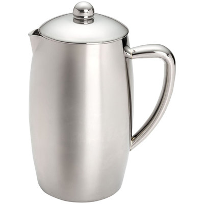 Chefs Bonjour 8-Cup Triomphe Double Wall Stainless Steel French Press