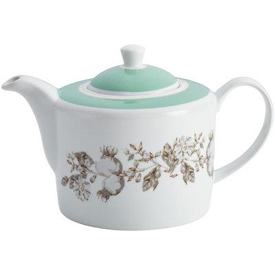 BonJour Dinnerware Fruitful Nectar Porcelain Teapot, Print