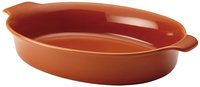 Anolon Vesta Stoneware 3-Qt. Oval Au Gratin Dish Color: Persimmon Orange