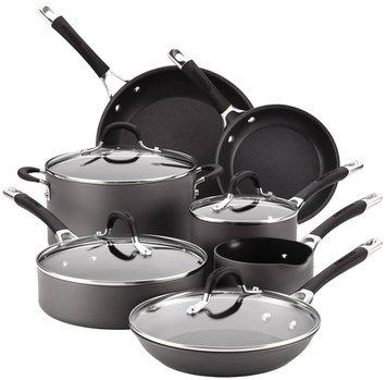Circulon Momentum 11-pc. Nonstick Hard-Anodized Cookware Set (Black)