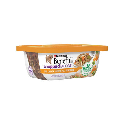 Beneful® Wet Dog Food Chopped Blends™ With Chicken Carrots Peas And Wild Rice