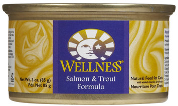 Old Mother Hubbard Wellness Can Cat Salmon & Trout 3 oz Case 24