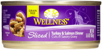 Wellness Canned Cuts Sliced Turkey & Salmon Dinner Canned Cat Food