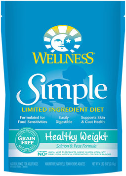Wellness Simple Natural Limited Ingredient Diet Dry Dog Food - Healthy Weight Salmon & Peas - 4.5lb