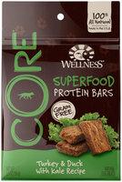 Wellness CORE Superfood Protein Bars Turkey, Duck & Kale Dog Treats