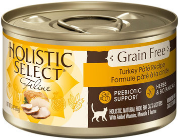 Holistic Select Grain-Free Turkey Pate Canned Cat Food 24 count, 3 oz