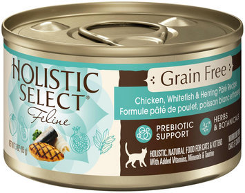 Holistic Select Natural Grain-Free Wet Canned Cat Food - Chicken, Whitefish & Herring Pate - 12x13oz