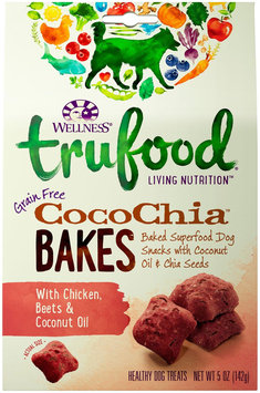 Wellness TruFood CocoChia Bakes Natural Grain Free Dog Treats - Chicken, Beets & Coconut Oil