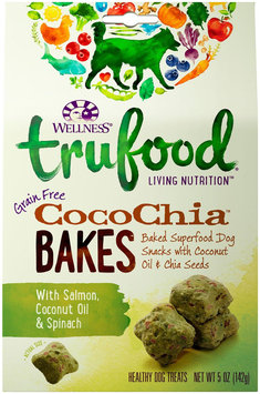 Wellness TruFood CocoChia Bakes Natural Grain Free Dog Treats - Salmon, Coconut Oil & Spinach