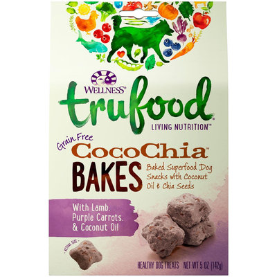 Wellness TruFood CocoChia Bakes Grain Free Dog Treats - Lamb, Purple Carrot & Coconut Oil