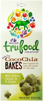 Wellness TruFood CocoChia Bakes Natural Grain Free Cat Treats - Salmon, Coconut Oil & Spinach
