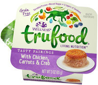 Wellness TruFood Tasty Pairings Natural Grain Free Wet Cat Food - Chicken, Carrots and Crab Recipe