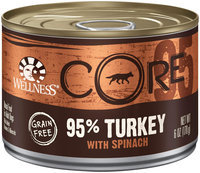 Wellness CORE CORE Natural Grain Free Wet Canned Dog Food - 95% Turkey with Spinach Recipe