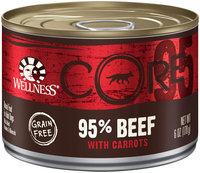 Wellness CORE CORE Natural Grain Free Wet Canned Dog Food - 95% Beef with Carrots Recipe