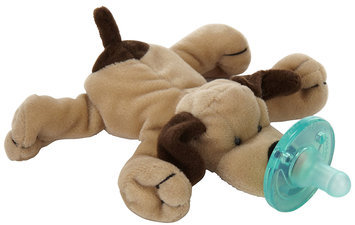 WubbaNub Infant Plush Toy Pacifier - Brown Puppy