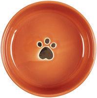 Ethical Stoneware Dish - Gilded Paw Dog Dish- Orange 7 Inch