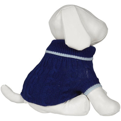 Fashion Pet Lookin' Good! Classic Cable Sweater - Cobalt Blue