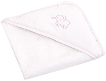 JoJo Maman Bebe Elephant Hooded Towel - Pink - 1 ct.