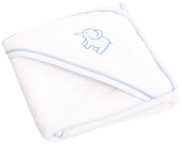 JoJo Maman Bebe Elephant Hooded Towel- Blue