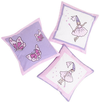 JoJo Maman Bebe 3 Fairy Decorative Pillows including Inner and Cover - 1 ct.