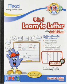 Pathways For Learning Mead See And Feel Learn To Letter With Guidelines 10X8 40Ct