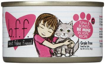 Best Feline Friend BFF Canned Cat Tuna & Bonito Be Mine 3 oz Case 12