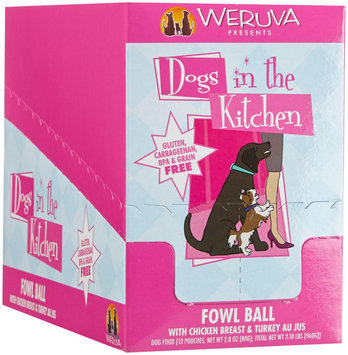 Weruva Dogs In The Kitchen Fowl Ball - Chicken Breast & Turkey Au Jus - 2.8 oz