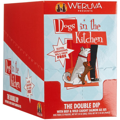 Weruva Dogs In The Kitchen The Double Dip - Beef & Wild Caught Salmon Au Jus - 2.8 oz