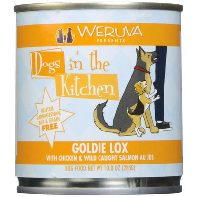 Weruva Dogs In The Kitchen Goldie Lox - Chicken & Wild Caught Salmon Au Jus - 10 oz