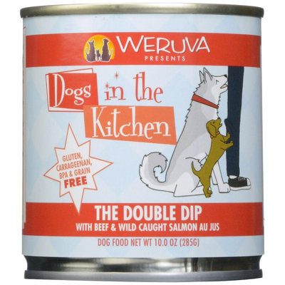 Weruva Dogs In The Kitchen The Double Dip - Beef & Wild Caught Salmon Au Jus - 10 oz