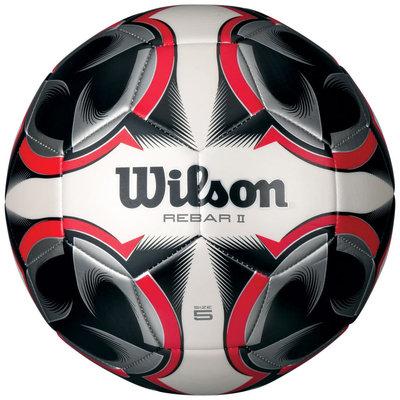 Wilson Rebar II Soccer Ball, Flame Red - Size 3
