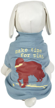 Dog Is Good DogIsGood make Time for Play Tee - Blue, X-Small