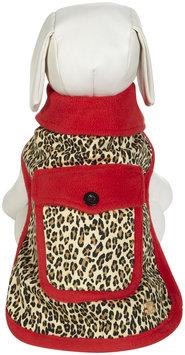 M. Issac US6453 16 83 Mizrahi Leopard Rev Coat M Red