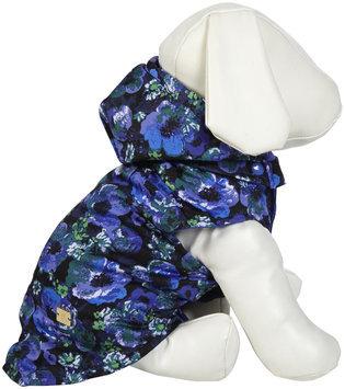 M. Issac US6508 12 19 Mizrahi Floral Dot Rev Vest S Blu