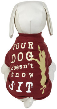 Dog Is Good DogIsGood Doesnt Know Sit Tee - Red, Large