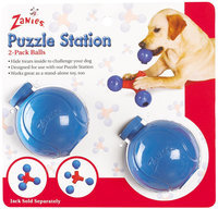 Pet Pals ZA095 02 Zanies Puzzle Station Ball 2 Pk