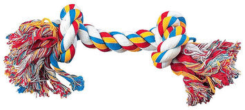 Pet Edge Dealer Services Zanies Rope Bone Dog Toy 8.5