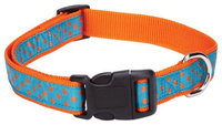 East Side Collection East Side Polka Dot Dog Collar 14 to 20in Orange