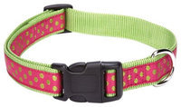 East Side Collection Polka Dot Collar - Raspberry, 18 - 26 in.