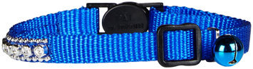 Petedge ZW322 19 East Side Collection Rhinestone Cat Collar Blue