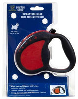 Petedge ZW943 26 83 GG Retractable Ld with Reflective Belt Sm Red